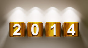 2014 year cubes 3d Royalty Free Stock Images