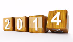 2014 year cubes 3d Stock Images