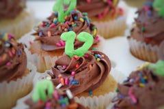 The 12 year cupcake stock photos