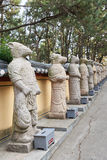 12-year cycle of the chinese zodiac. Statues in a temple Stock Images