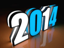 2014 year. 3d concept design. 2014 year Royalty Free Stock Photos