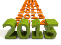 2015 year. 3d extrude text 2015 year Stock Photo