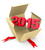 Year 2015. 3d generated picture of a 2015 concept Stock Image