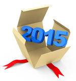 Year 2015. 3d generated picture of a 2015 concept Stock Photography