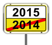 2015 year. 3d generated picture of a 2015 sign Royalty Free Stock Image