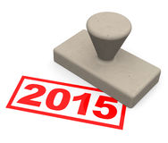 2015 year. 3d generated picture of a 2015 stamp Royalty Free Stock Photos