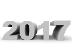 2017 Year. 3D illustration Royalty Free Stock Image