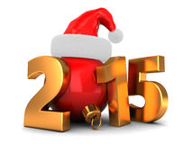 2015 year. 3d illustration of 2015 new year and Christmas concept Royalty Free Stock Photos
