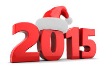 2015 year. 3d illustration of 2015 new year and Christmas concept, over white background Stock Photos