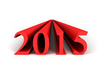 2015 year. 3D image of 2015 year on white background Stock Photo