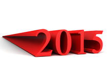 2015 year. 3D image of 2015 year on white background Royalty Free Stock Images