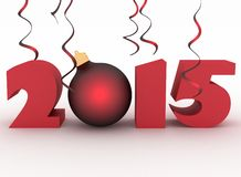 2015 year. 3D image on white. 2015 year. 3d illustration on white background Stock Images