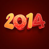 Year 2014 3D Royalty Free Stock Image