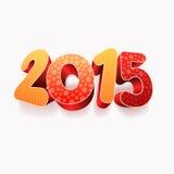 Year 2015 3D Royalty Free Stock Photos