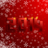 Year 2014 3D in red background Royalty Free Stock Image