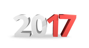Year 2017 3D Render Design. Graphic Royalty Free Stock Images