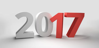 2017 year 3d render. Graphic Royalty Free Stock Image