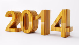2014 year 3d render Royalty Free Stock Images