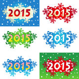 Year 2015 decorated headings or banners. Year 2015 Christmas or New Year decorated headings for greeting cards, calendars, banners, invitations, posters, etc Stock Images