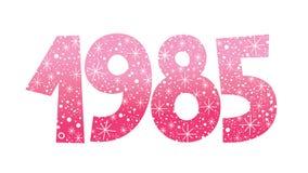 Year 1985 decorative celebratory number Royalty Free Stock Photo