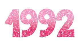 Year 1992 decorative celebratory number Royalty Free Stock Photo