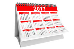 2017 Year Desktop Calendar. 3d Rendering. 2017 Year Desktop Calendar on a white background. 3d Rendering Stock Photo