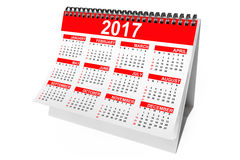2017 Year Desktop Calendar. 3d Rendering. 2017 Year Desktop Calendar on a white background. 3d Rendering Stock Photography