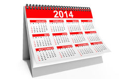 2014 year desktop calendar. On a white background Royalty Free Illustration