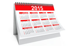 2015 year desktop calendar Stock Image