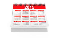 2015 year desktop calendar. On a white background Royalty Free Stock Images