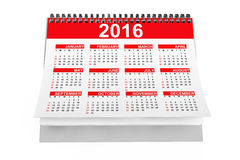 2016 year desktop calendar. On a white background vector illustration