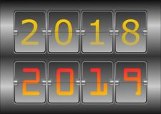 Year digital show 2018 and new year 2019,illustration vector illustration