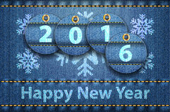 2016 year digits and Happy New Year greetings Stock Photo