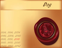 Year of the Dog - background Royalty Free Stock Photography
