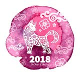 2018 Year of the DOG Royalty Free Stock Image