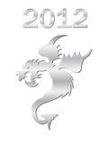 Year of the dragon. Chinese New Year. 2012 - year of the dragon Stock Illustration