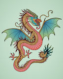 Year of Dragon. Vector illustration Royalty Free Stock Images