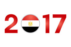 Year 2017 with Egypt Flag Stock Images