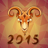 2015 year emblem goat. Goat as a symbol for year 2015. EPS-10 Stock Photo