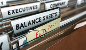Year End Balance Sheet Royalty Free Stock Photography