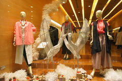 Year End Boutiques Windows Mannequins Stock Images