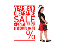Year-end clearance sale template Royalty Free Stock Images