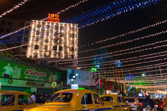Year end and New Year's Eve celebration. Kolkata, West Bengal / India – December 31st : Year end and new year's eve celebration at night on  31st December at Stock Images