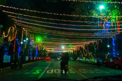 Year end and New Year's Eve celebration. Kolkata, West Bengal / India – December 31st : Year end and new year's eve celebration at night on  31st December at Stock Image