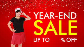 Year-End Sale background design Royalty Free Stock Photos
