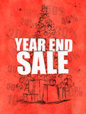Year end sale red background. Discount sales Stock Image