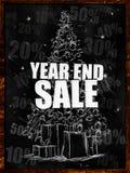 Year end Verkauf auf Tafel lizenzfreie abbildung