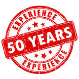 50 year experience rubber stamp. Vector illustration Royalty Free Stock Photos