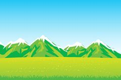 Year field and mountains Stock Photography