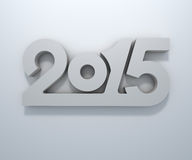 2015 year figures. Abstract 3D 2015 year figures wall design Stock Images